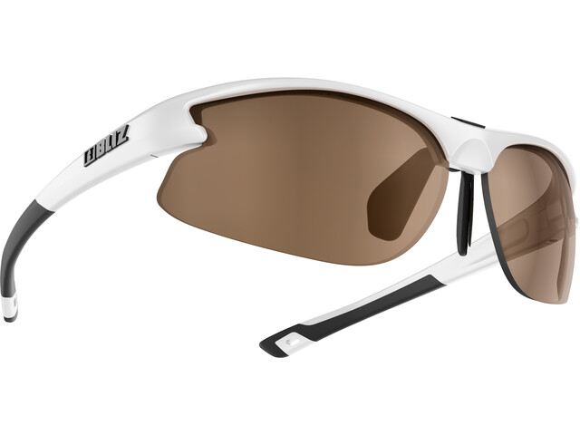 Bliz Motion Smallface Glasses, shiny white/amber